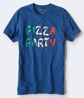 Aeropostale Pizza Party Graphic Tee