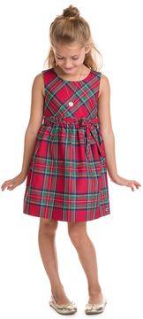 Vineyard Vines Girls Jolly Plaid Holiday Dress (2T-7)