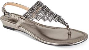 Thalia Sodi Ivorie Jewled Wedge Sandals, Created For Macy's Women's Shoes