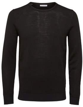 Selected Men's Black Wool Sweater.