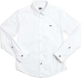 Karl Lagerfeld Cotton Poplin Shirt