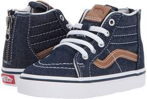 Vans Kids Sk8-Hi Zip Dress Blues/Chipmunk) Boys Shoes