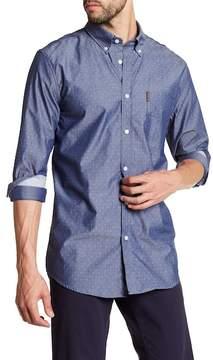 Ben Sherman Chambray Dobby Print Regular Fit Shirt