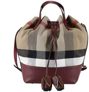 Burberry Handbag Shoulder Bag Women - BURGUNDY - STYLE