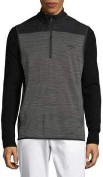 Callaway Heathered Quarter-Zip Vest