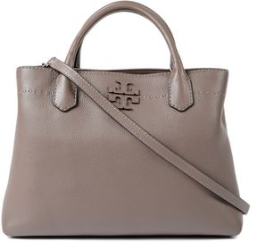 Tory Burch Mcgraw Satchel - SILVER MAPLE - STYLE