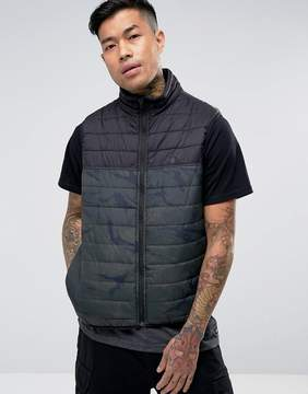 Element Puff Vest in Camo with Reflective Logo