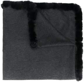 N.Peal woven trim shawl