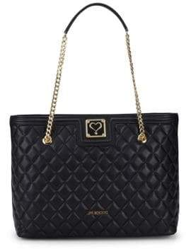 Love Moschino Quilted Chain Faux Leather Tote