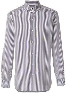 Barba club collar striped shirt
