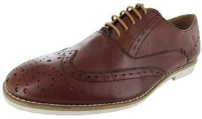Steve Madden Mens P-Bolts Leather Oxford Shoe, Tan, US 8.5