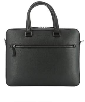 Salvatore Ferragamo Men's Grey Leather Briefcase.