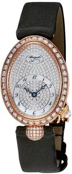Breguet Reine de Naples Diamond Pave Dial 18kt Rose Gold Ladies Watch 8928BR8D844DD0D