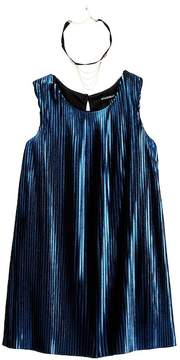 My Michelle mymichelle Accordian Dress with Necklace (Big Girls)
