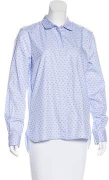 Chinti and Parker Patterned Button-Up Top