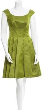 Zac Posen Pleated A-Line Dress