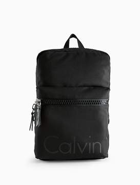 Calvin Klein Logo Oversized Zip Backpack