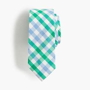 J.Crew Boys' cotton tie in gingham
