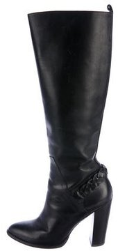 Elizabeth and James Leather Braided Knee-High Boots