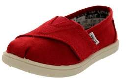 Toms Toddlers Tiny Classics Red Canvas Casual Shoe.
