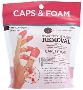 ASP Soak Off Gel Polish Caps & Foam Pads