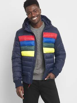 Gap ColdControl Max crazy stripe puffer jacket