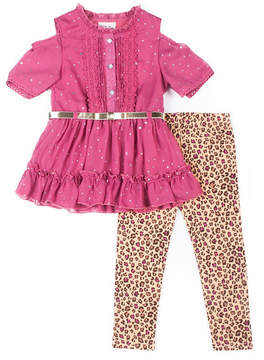 Little Lass 2-pc. Legging Set-Toddler Girls
