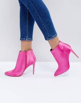 New Look Satin Heeled Ankle Boot
