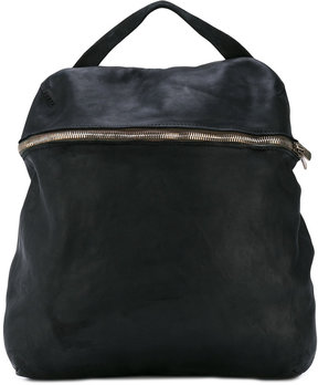Guidi front double zip backpack