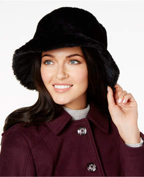 Nine West Reversible Faux-Fur Cloche