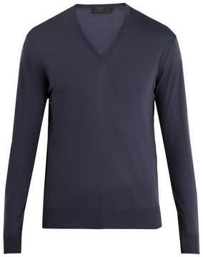 Prada V-neck wool sweater