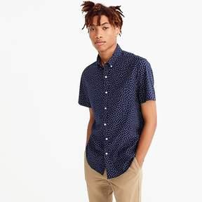 J.Crew Stretch short-sleeve Secret Wash shirt in daisy print