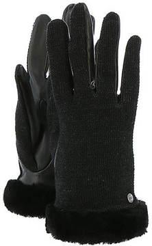 UGG Women's Shorty Smart Fabric Glove w/Short Pile Trim