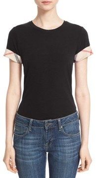 Burberry Women's Check Trim Tee