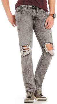 GUESS Slim Tapered Acid Wash Jeans