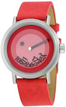 Simplify The 500 Red Dial Red Leather Unisex Watch
