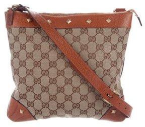 Gucci GG Nailhead Messenger Bag - BROWN - STYLE