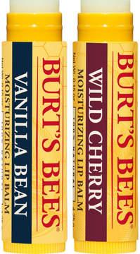 Burt's Bees Wild Cherry and Vanilla Bean Lip Balm 2 Tubes