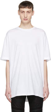 Helmut Lang White Oversized Uni Sleeve T-Shirt