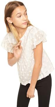 Milly MINIS EMBROIDERED DAISY GAUZE LINDY TOP
