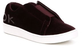 Donna Karan Bazel Velvet Slip-On Sneakers