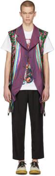 Comme des Garcons Reversible Multicolor Multi Fabric Vest