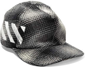 Off-White Checked Cotton-blend Baseball Cap - Gray