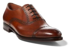 Ralph Lauren Denver Cap-Toe Shoe Tan 9.5 D