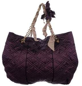 Lanvin Quilted Satin Tote