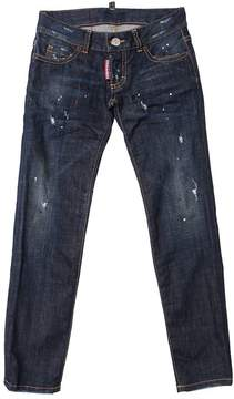 DSQUARED2 Slim Fit Painted Stretch Denim Jeans