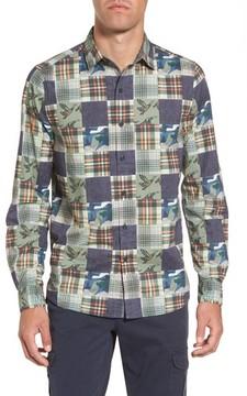 Michael Bastian Men's Patchwork Print Sport Shirt