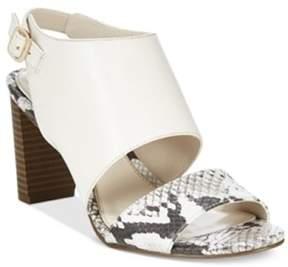 Alfani Womens Iddris Leather Open Toe Casual Slingback Sandals.
