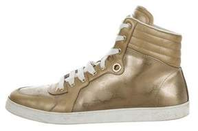Gucci Imprimé High-Top Sneakers