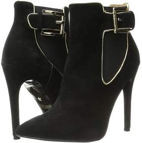 Just Cavalli High Heel Ankle Boot w/ Piping Women's Pull-on Boots